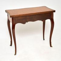 Antique French Inlaid Parquetry Card Table (11 of 12)