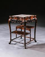 Fine 19th Century Chinese Huali Stand / Table with Alabaster Inserts (10 of 11)