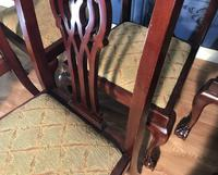 Set of six Edwardian Mahogany Dining Chairs (8 of 11)
