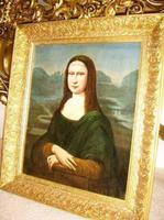 Mona Lisa Old Master 18th Century Oil Portrait Painting on Canvas after Leonardo Da Vinci (5 of 9)