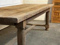 Rare Large & Deep Oak Farmhouse Dining Table (11 of 31)