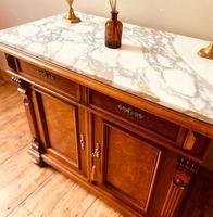 Antique Sideboard / Burr Walnut Sideboard / Walnut Cupboard (5 of 10)
