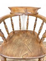 Antique Beech & Elm Smoker's Bow Chair (5 of 8)