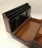 Antique Victorian Leather Writing Document Box (15 of 19)