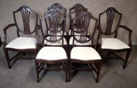 Set of Eight '6+2' Mahogany Dining Chairs in the Hepplewhite Style (3 of 15)