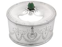 Sterling Silver Locking Tea Caddy by Henry Chawner - Antique George III 1786 (2 of 14)