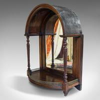 Antique Butler's Mirror, English, Rosewood, Dome Top, Wall, Victorian c.1880 (6 of 11)