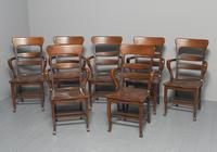 Rare Antique Set of 34 American Oak Chairs (4 of 15)
