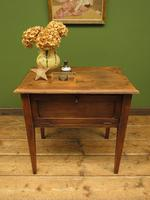 Small Rustic Antique Pine Table with Fall Front (16 of 17)
