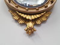 Antique Regency carved Convex Mirror c 1820 (6 of 6)