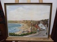 Oil on Canvas Cornish Seascape Artist M M Tomlinson (5 of 10)