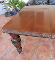 Edward and Roberts Wind up dining  table seats 10 country oak (9 of 10)