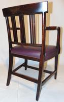 Scottish Georgian Mahogany Elbow Chair (6 of 6)
