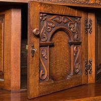 Antique Carved Court Cabinet, English, Oak, Sideboard, Jacobean Revival c.1910 (10 of 12)