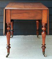 Good Quality Victorian Mahogany Pembroke Dining Table 'seats 6 people' (5 of 10)