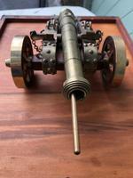 Antique Oak & Brass Miniature Cannon (7 of 10)