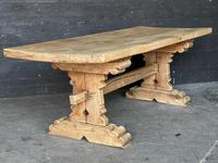 Rustic French Bleached Oak Farmhouse Dining Table (15 of 15)
