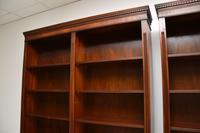 Pair of Large Georgian Style Mahogany Open Bookcases (9 of 11)