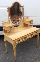1900's Elegant Country Pine Dressing Table with Central Mirror (3 of 4)