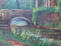 Edwardian Oil Painting Historical Tudor House Little Moreton Hall Congleton (9 of 12)