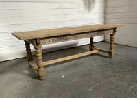 Superb Quality Large Bleached Oak Farmhouse Dining Table (30 of 32)