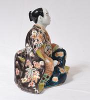 Japanese Kutani Porcelain Statue Male Figurine 1890 (7 of 9)