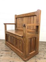 Rustic Pitch Pine Settle Bench (8 of 9)