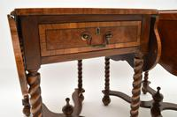 Pair of Antique Burr Walnut Drop Leaf Side Tables (9 of 12)