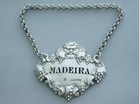 Victorian Cast Silver Bacchus Mask Wine Label 'Madeira' (4 of 10)
