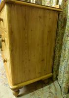 Small Edwardian Pine Chest of Drawers Stripped & Bees-waxed (3 of 9)