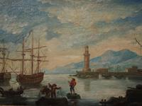 Oil Painting of a Harbour Scene (8 of 11)
