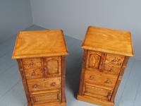 Antique Pair of Satinwood Bedside Cabinets by M. Woodburn (9 of 13)