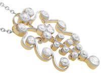 2.27ct Diamond and 14ct Yellow Gold Pendant - Antique Circa 1910 (7 of 9)