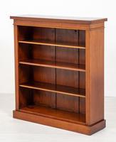 Useful Victorian Mahogany Open Bookcase (4 of 6)