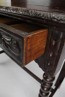 Antique Victorian Gothic Revival Oak Hall Table (9 of 13)
