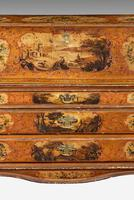 Mid 18th Century Venetian Lacquered and Gilded Bureau (6 of 8)