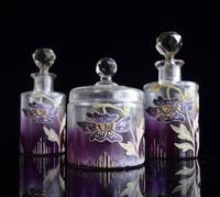 Moser Art Nouveau Enamelled Cameo Dressing Table Set (7 of 7)