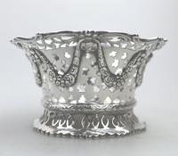 Extremely Good Solid Silver Pierced Basket / Bowl by Golds c.1899 (4 of 10)