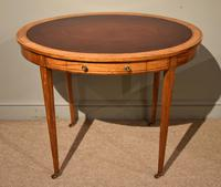19th Century Oval Satinwood Writing Table