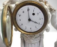 French Empire Figural Mantel Clock – Bisque Porcelain Cherub Verge Mantle Clock c.1800 (9 of 13)