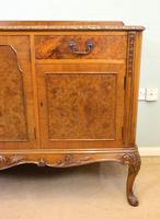 Burr Walnut Queen Anne Style Sideboard Server c.1930 (10 of 16)