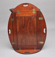 Early 19th Century Mahogany Folding Butlers Tray on Stand (9 of 10)