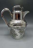 Antique Scottish Silver Plated Claret/Mulled Wine Jug - Patented Filter Lid (2 of 8)