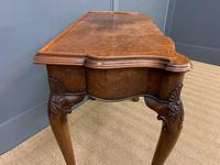 Serpentine Fronted Queen Anne Style Burr Walnut Side Table (16 of 16)