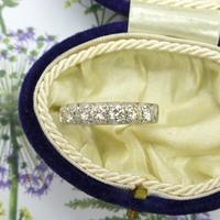 Vintage 18ct White Gold Seven Stone Diamond Half Eternity Wedding Band 0.85ct (9 of 9)
