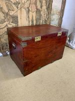 19th C Brass Bound Campaign Style Chest (6 of 8)