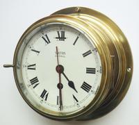 Superb Antique English Smiths Bulkhead Wall Clock 8 Day Ships Clock (7 of 11)