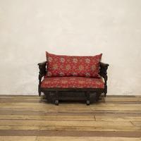 Early 20th Century Moorish Rosewood Window Seat - Bench (8 of 11)