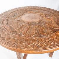 Carved Nigerian African Vintage Table (5 of 11)