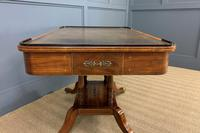 Fine Regency Inlaid Mahogany Library Table (9 of 16)